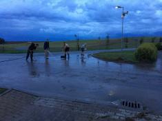 Zaplavená část obce